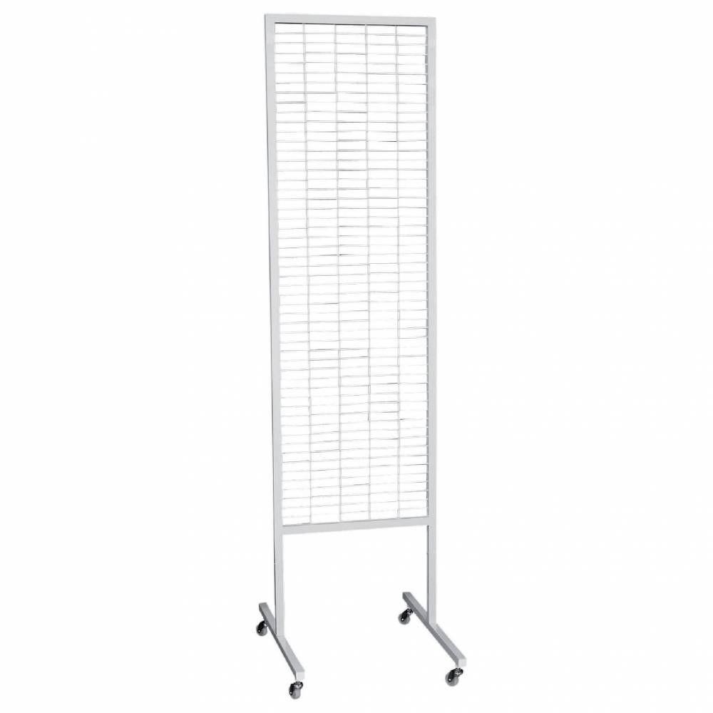 Présentoir grille blanc 50 x 190 cm (photo)