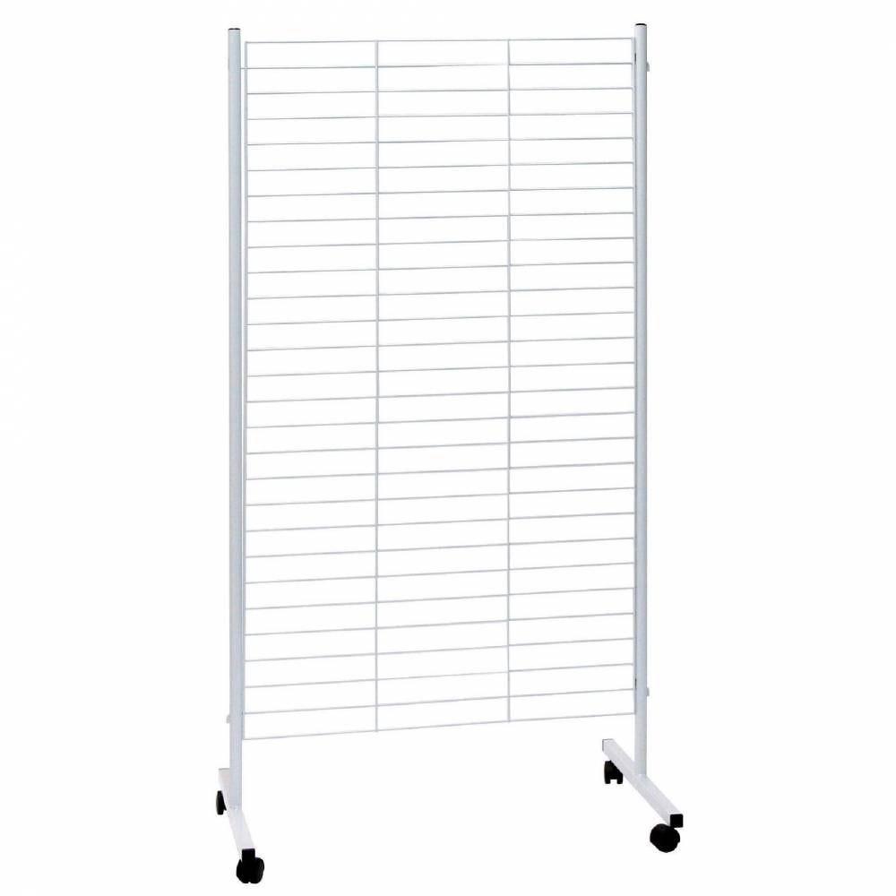 Présentoir grille blanc 85,5 x 159 cm (photo)
