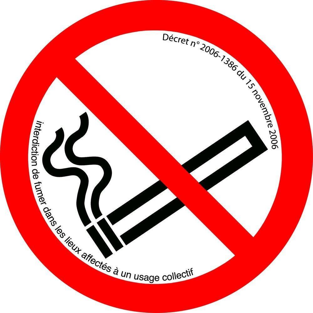 Pictogramme défense de fumer (photo)