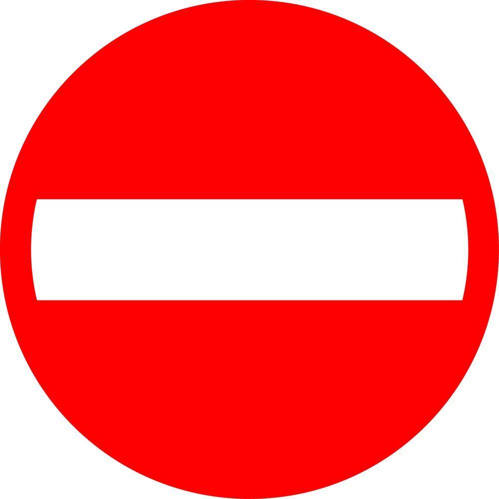 Pictogramme sens interdit (photo)