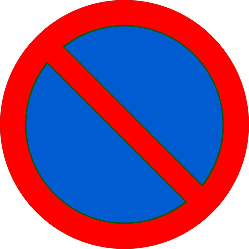 Pictogramme parking interdit (photo)