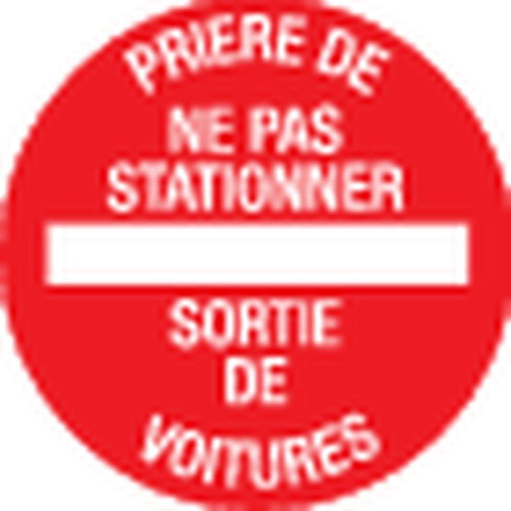 Pictogramme Prière de ne pas stationner - sortie de voitures (photo)