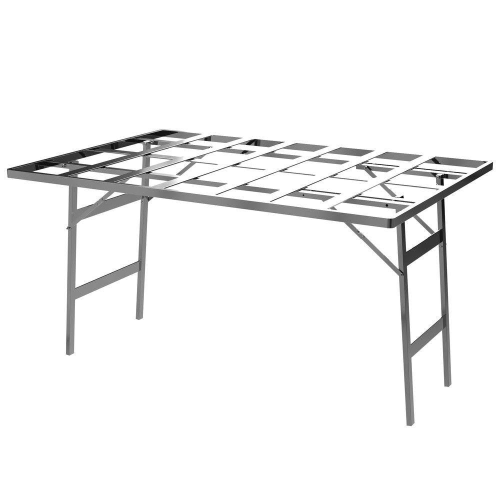Table plateau ajouré aluminium - 100 x 150 x 80 cm - Poids 5.000kg (photo)