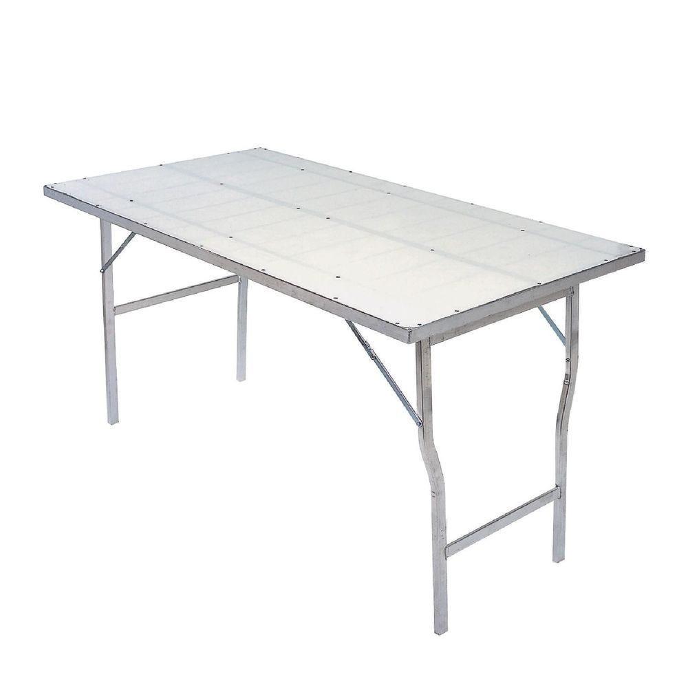 Table d'extérieur plateau polypro 150x80x80cm 5.6kg