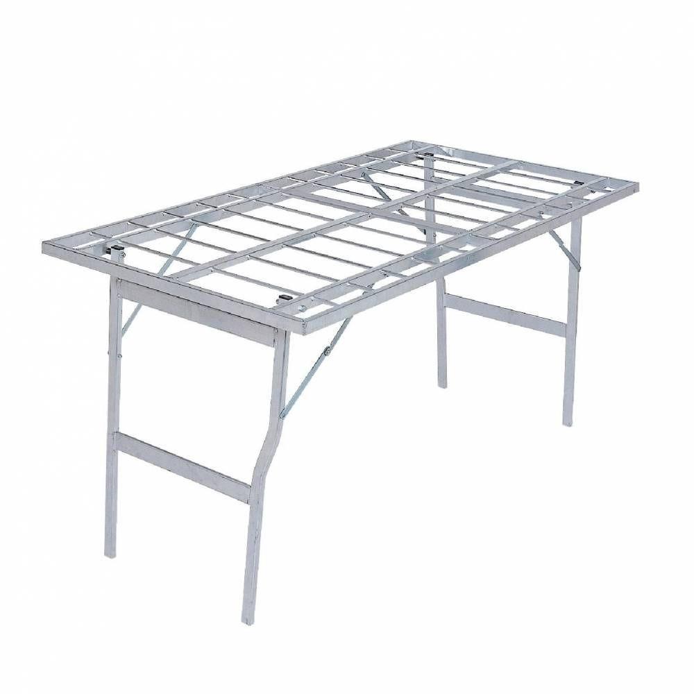 Table d'extérieur plateau ajouré aluminium 150 x 80 x 80 cm - poids 5.6kg (photo)