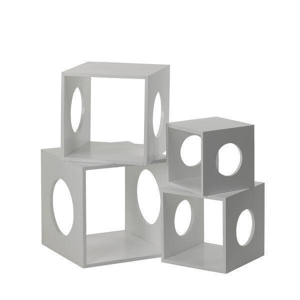Set de 4 cubes blanc (photo)