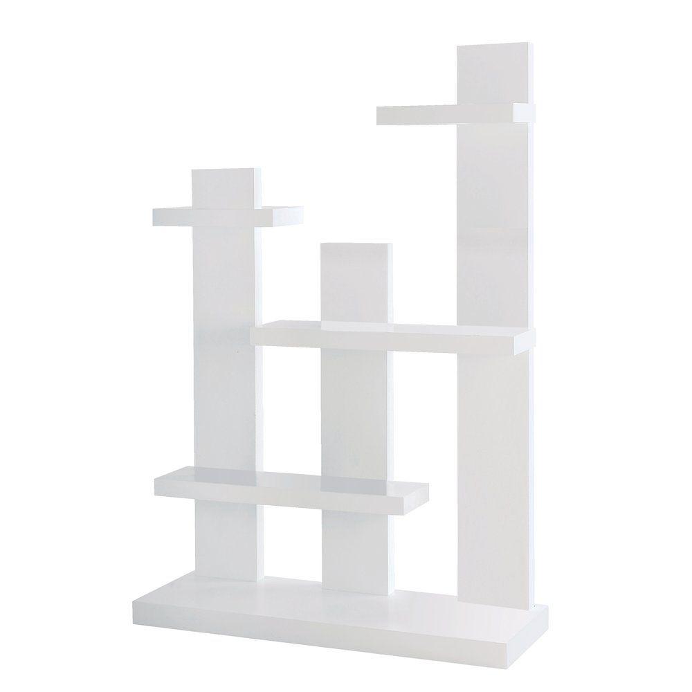 Etagère 5 niveaux blanc L100 x P34 x H143.50 cm (photo)