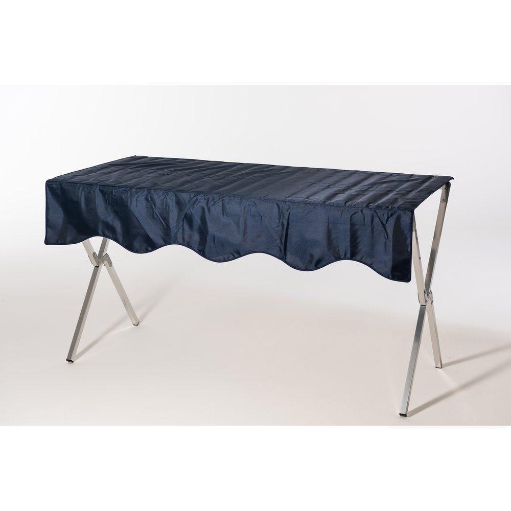 Table pliante aluminium 120x70x70cm + Nappe bleu fournis