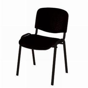 Chaise Iso tissu noir