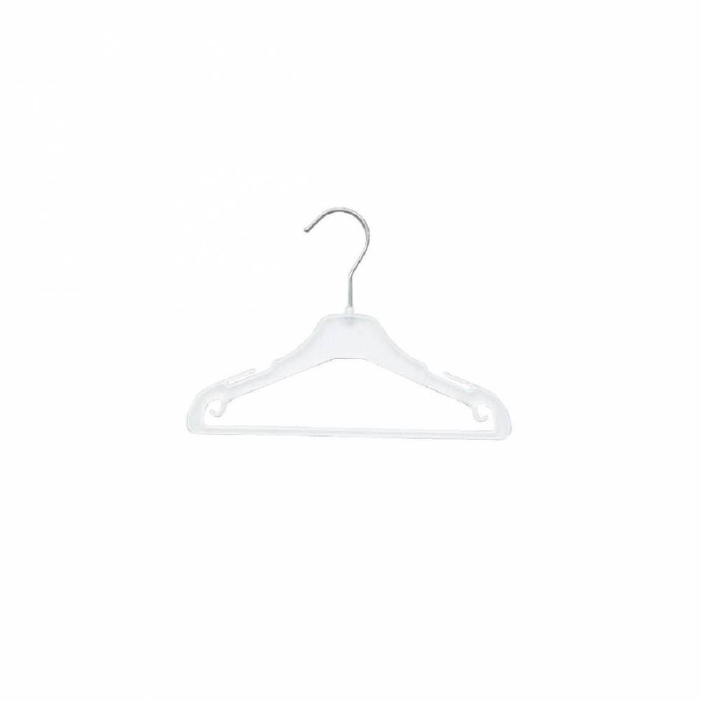 Cintre plastique blanc barre 25 cm - Par 100 (photo)