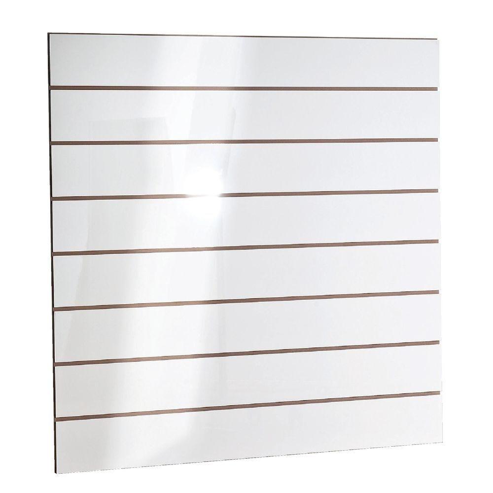 Panneau rainuré R15 120 x 120 cm - blanc laqué (photo)