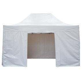 Kit 4 rideaux blanc pour tente 44678 (photo)