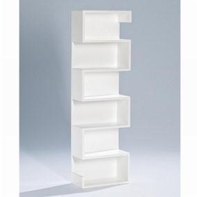Présentoir blanc mat L30 x P15 x H98cm (photo)