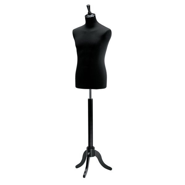 Buste couture pied tripode noir homme (photo)