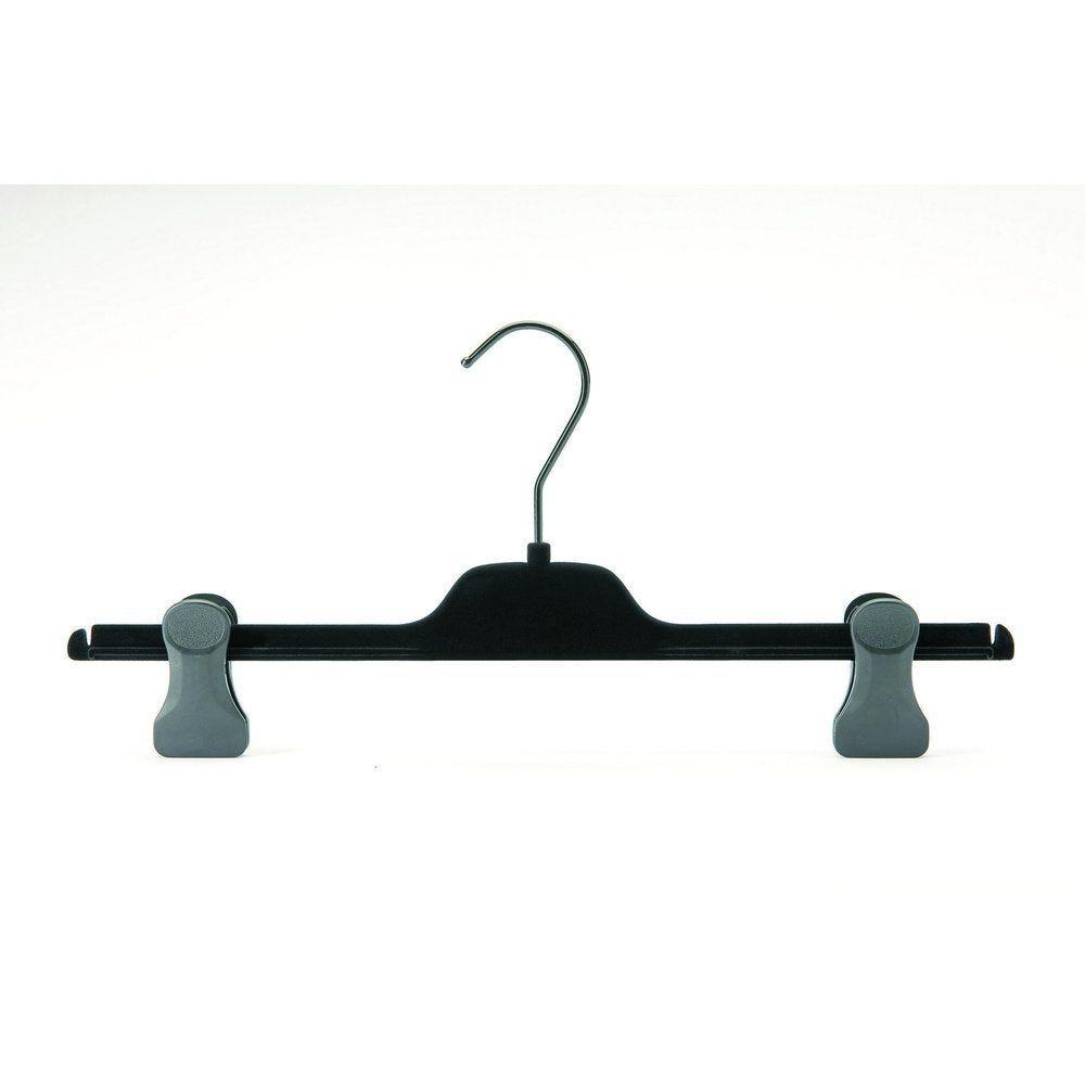 Cintre pinces velours noir L. 36 cm (photo)