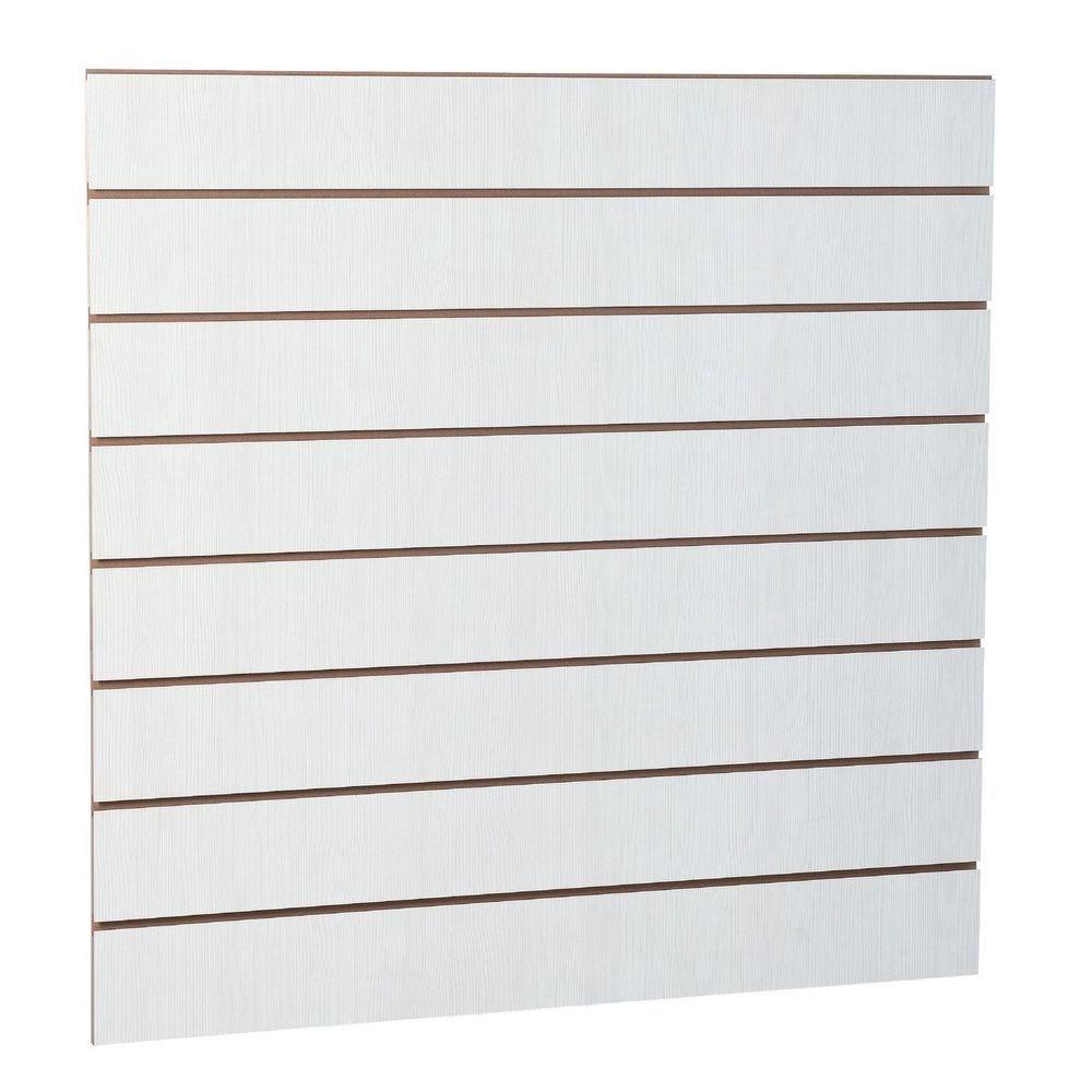 Panneau rainuré R15 120 x 120 cm - ton bois blanchi (photo)