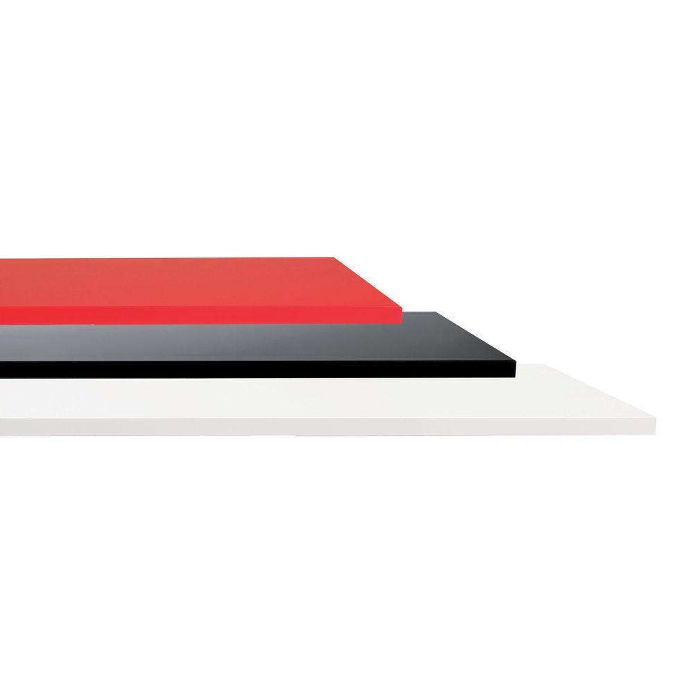 Tablettes kit de 2 laqué rouge - pour 45071 epaisseur 22mm 120x40 cm (photo)