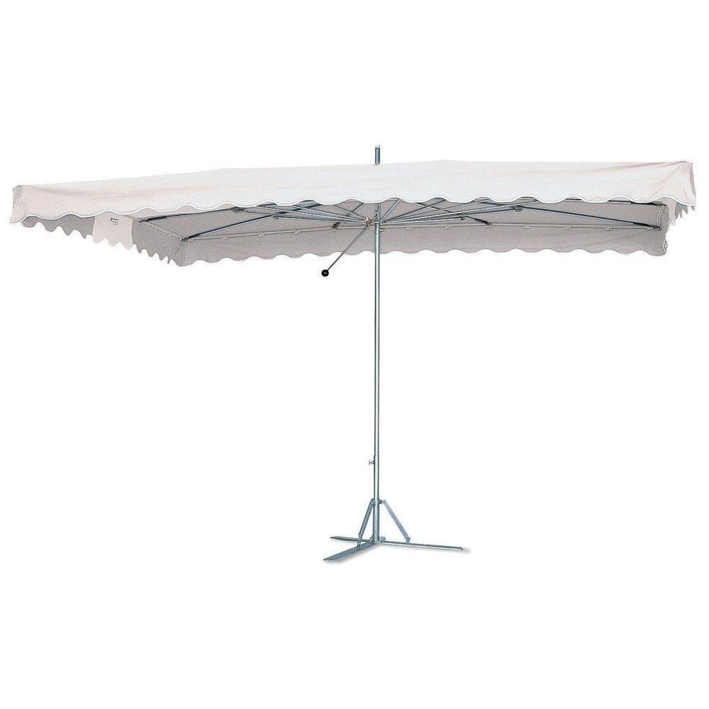 Parasol Paragliss toile blanc avec housse 3,25 x 2,5m (photo)