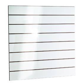 Panneau rainuré blanc laqué R15 120x120 cm (photo)
