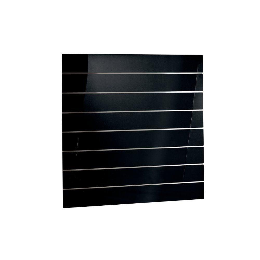 Panneau rainuré noir laqué R15 120x120 cm (photo)