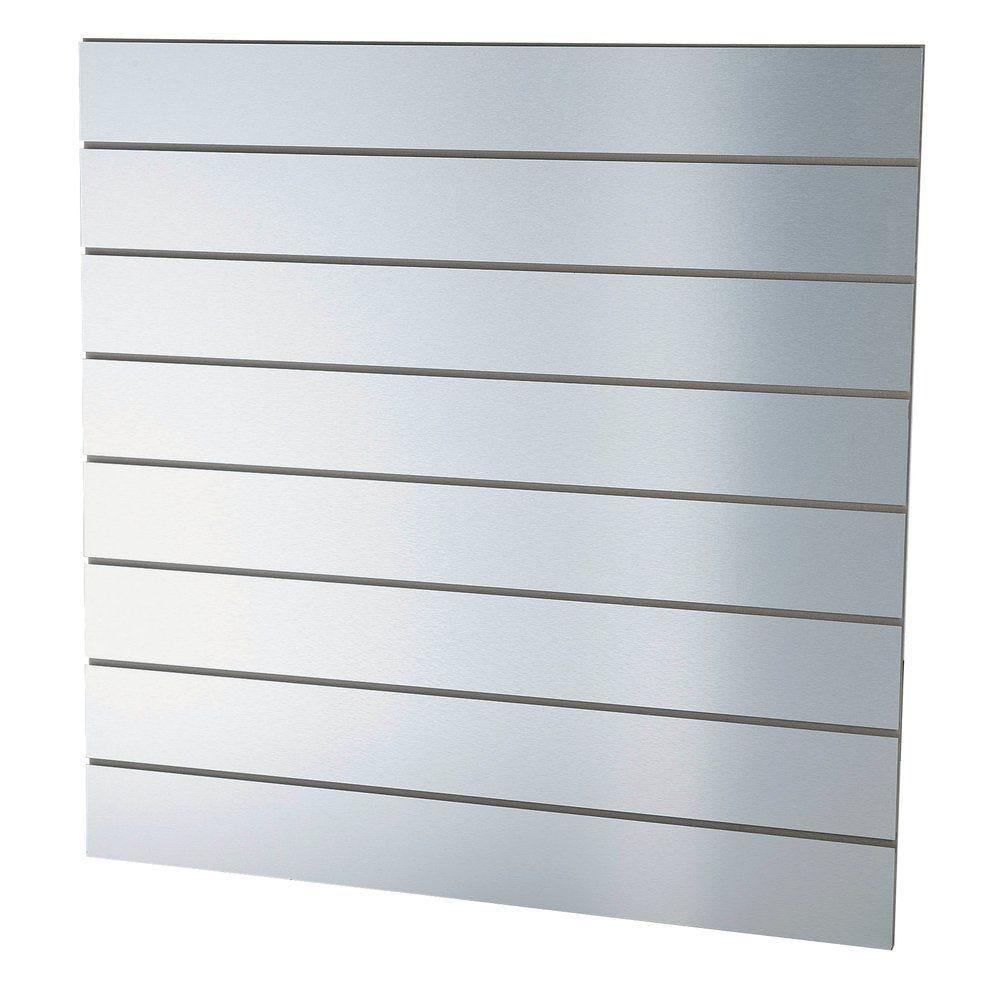 Panneau rainuré aluminium laqué R15 L120 x H120 cm (photo)