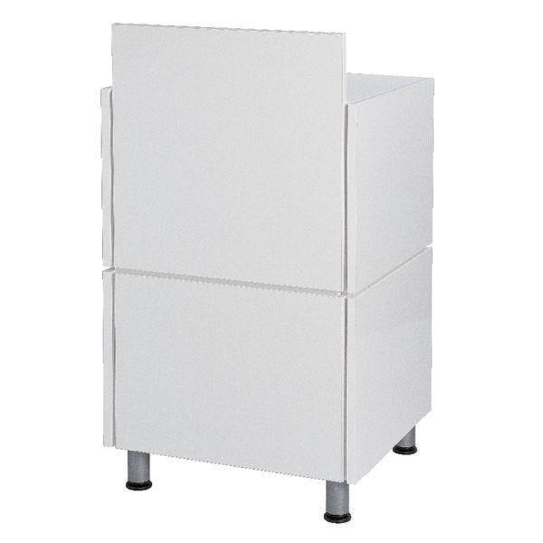Comptoir blanc simple L60cm + tablette Banko 55x53x93cm (photo)
