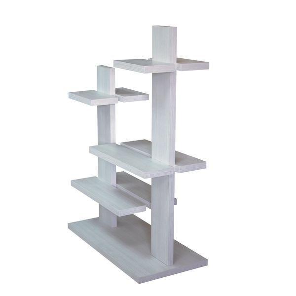 Etagère 5 niveaux double face blanc 100x49x144cm (photo)