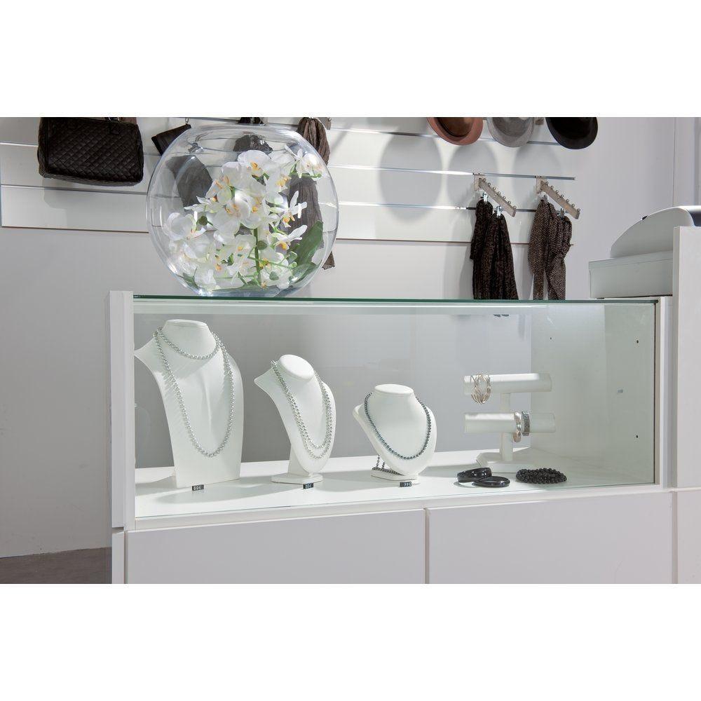 Comptoir 'Banko' duo vitrine blanc L 110 cm (photo)