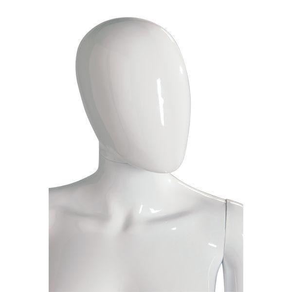 Tête femme 'Oeuf' modulable blanc brillant style Design (photo)