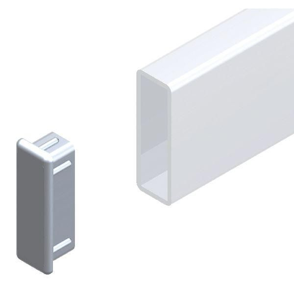 Embout tube rectanglulaire QV Alias 38x13mm (photo)