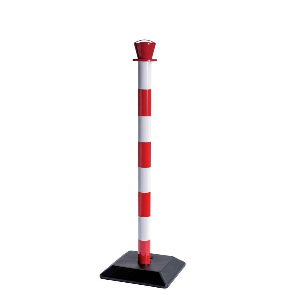 Poteau plastique de guidage rouge/blanc à lester. (photo)