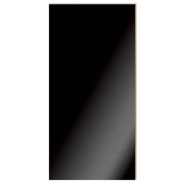 Panneau 'Alias' noir laqué L59x120cm (photo)