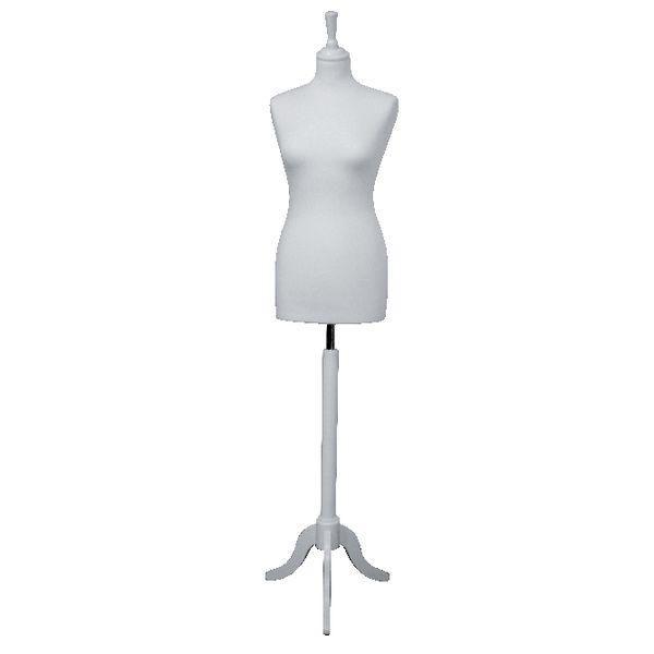 Buste couture femme pied tripode blancs L.36 x P.23 x H.178 cm (photo)
