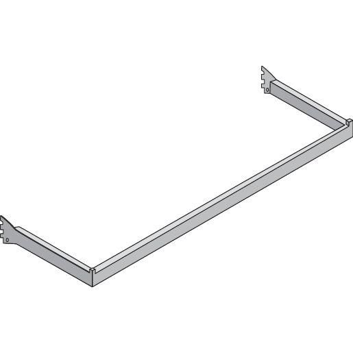 Guidon penderie nickel brossé rectangle L60cm (photo)