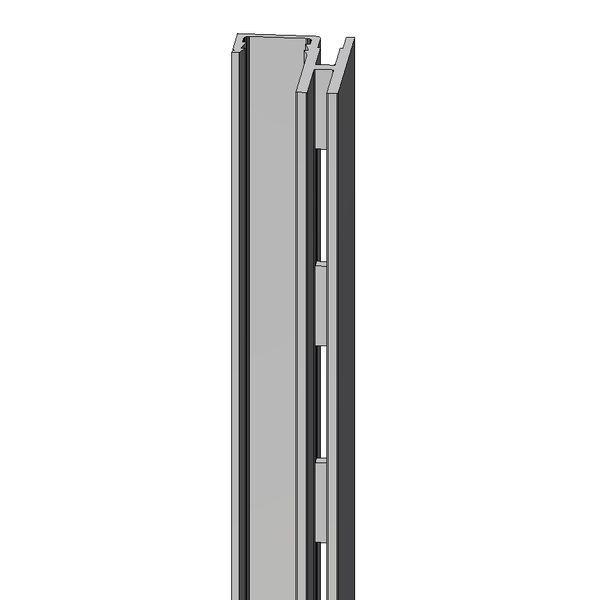 Montant crémaillère latérale Alias aluminium L.240cm