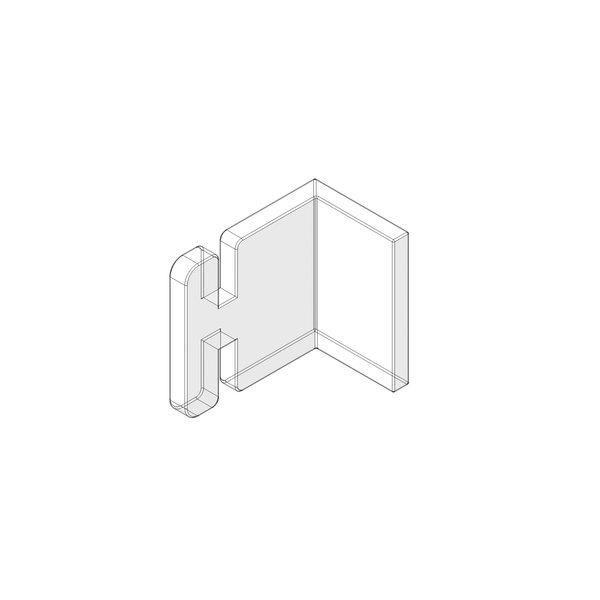 Clip latéral en acrylique transparent pour panneau Alias x10 (photo)