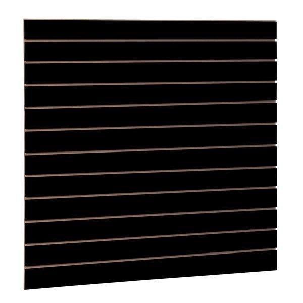 Panneau rainuré R10 noir L120xP120xH1,8cm (photo)