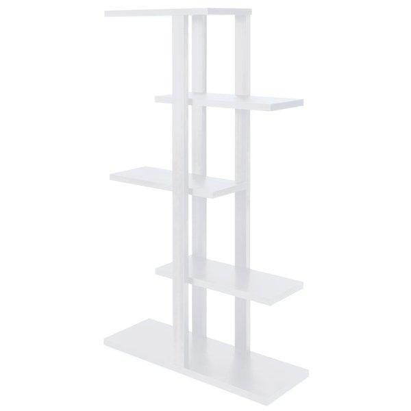 Présentoir 5 niveaux Flexia blanc 165x90x30cm (photo)