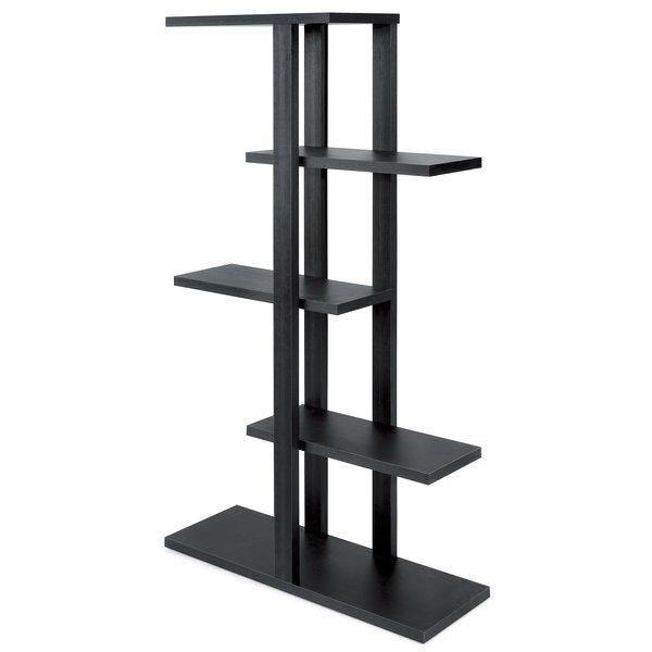 Etagère 5 niveaux Flexia noir vintage 90x30x165 cm (photo)
