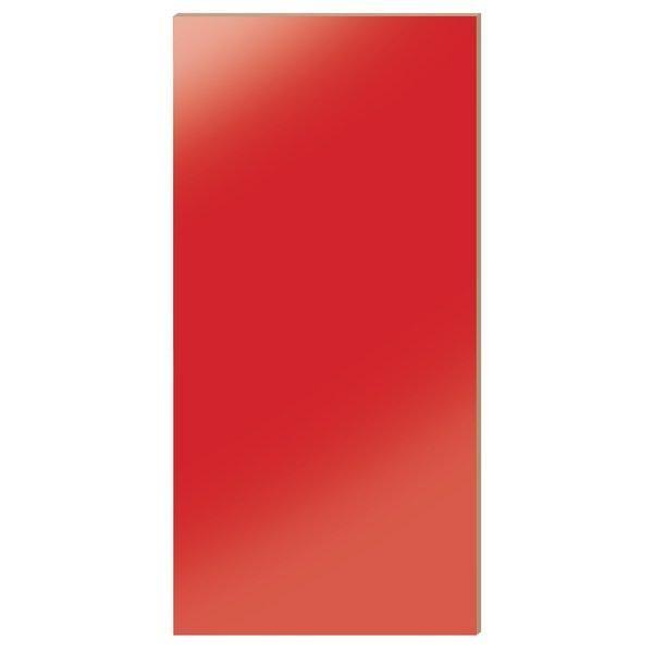 Panneau Alias rouge laqué L.59 x H.120cm (photo)