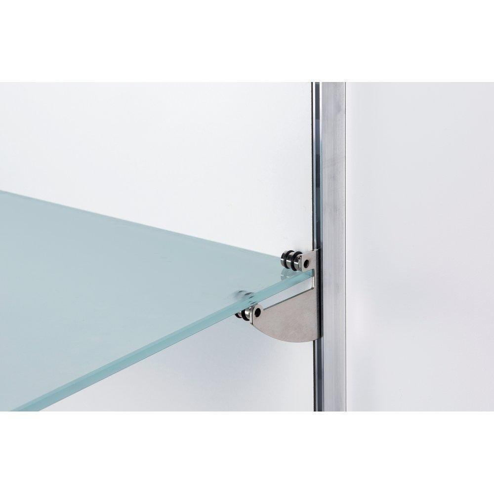 Consoles x2 nickel brossé + adaptateur central Alias+QV tablette verre 8/10mm (photo)