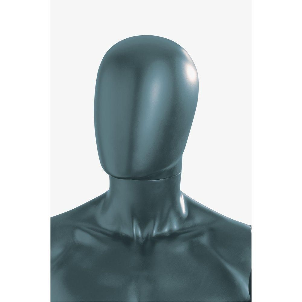 Tête mannequin homme modulable anthracite mat style Design (photo)