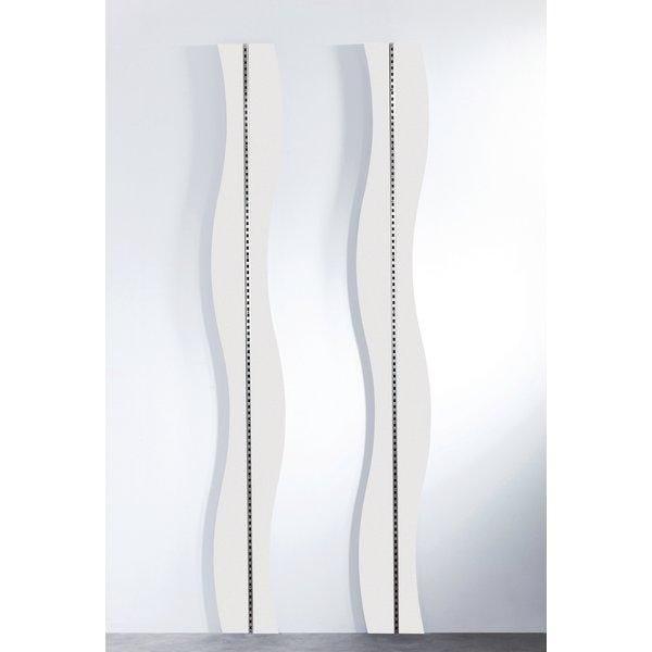 Panneau Vague blanc pour crémaillère Réf.45565 - L.240cm (photo)