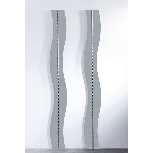 Panneau Vague gris alu pour crémaillère Réf.45565 - L.240cm (photo)