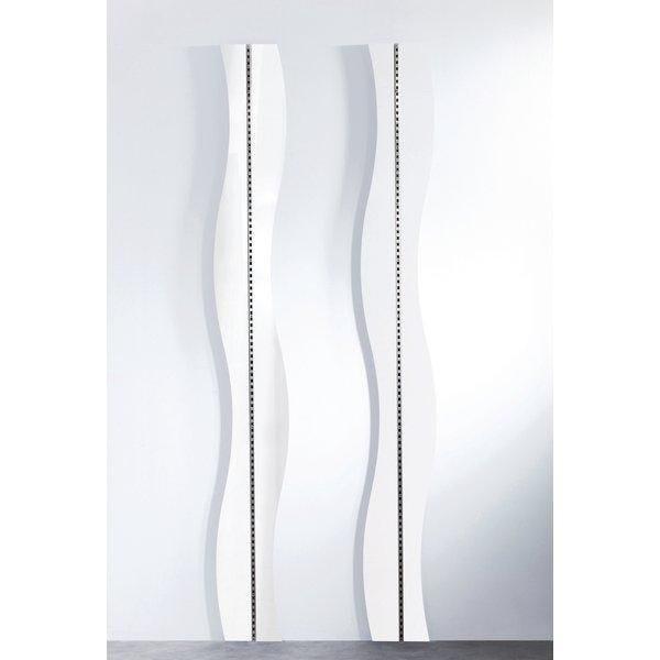 Panneau Vague blanc laqué pour crémaillère Réf.45565 - L.240cm (photo)