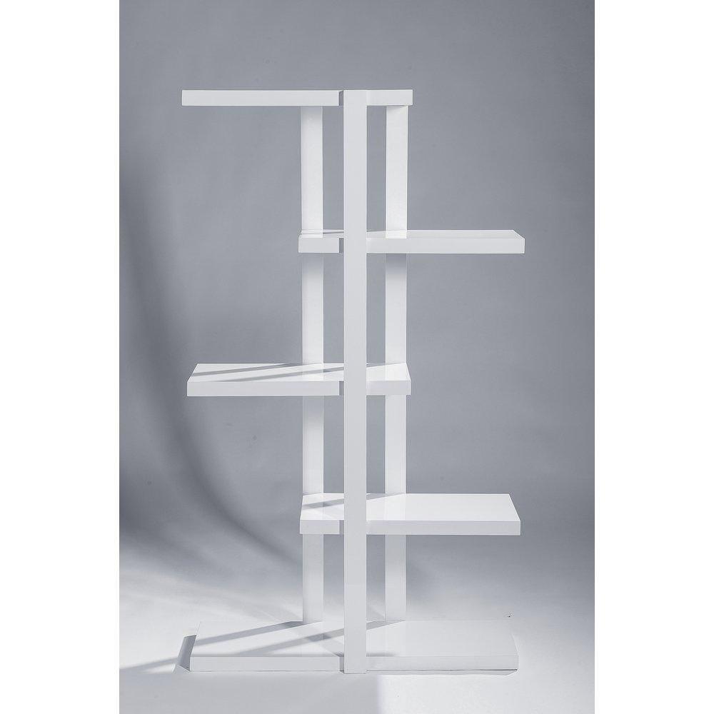 Etagère 5 niveaux blanc laqué L90 x P30 x H160 cm (photo)