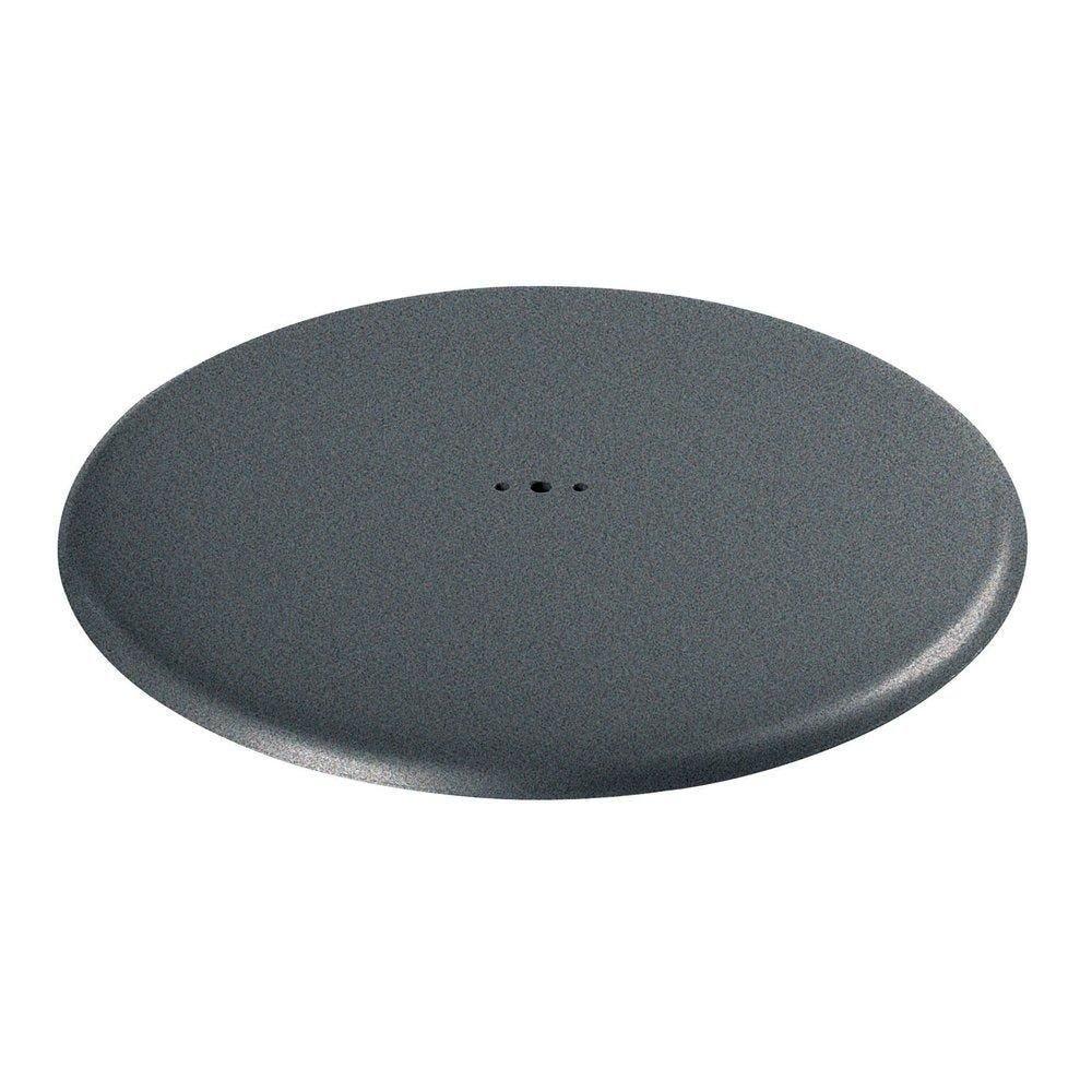 Pied rond diamètre 490 mm gris martelé (photo)