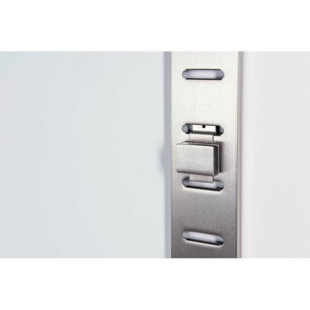 Support barre de charge nickel brossé pour fond rainuré 38x13cm (photo)