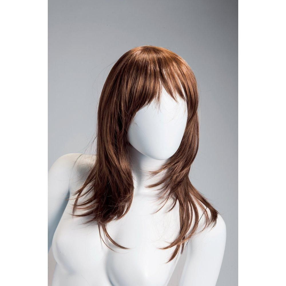 Perruque femme cheveux longs acajou