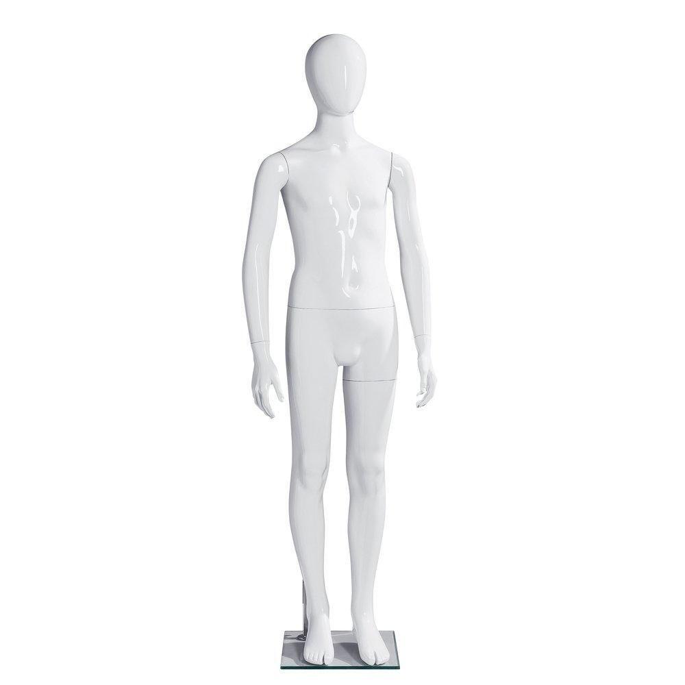 Mannequin enfant 12ans H154cm blanc laqué Shopexpert fibre de verre (photo)